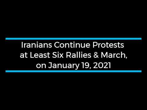 Iranians Continue Protests; at Least Six Rallies and Strikes on January 19