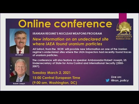 Online Conference: New Information About Iran Regime's Abadeh Nuclear Site - March 2021