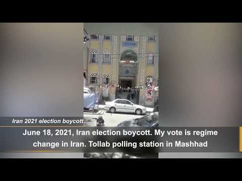 Iran election 2021: The Election poll in the Tollab district of the city of Mashhad is empty
