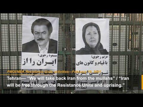 """Rise up to overthrow the regime of Ali Khamenei"": MEK Resistance Units"