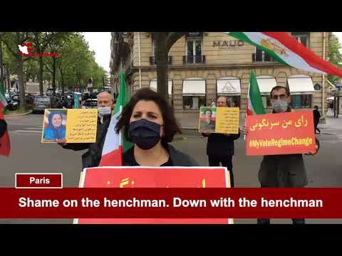 Boycotting the Iranian regime elections & protesting Zarif's trip to Europe by MEK & NCRI Supporters