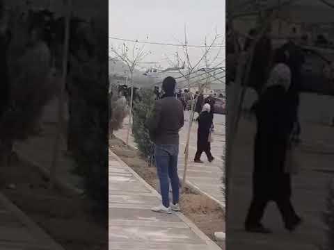 وحشت رژیم و دخالت با هلیکوپتر در مراسم چهلم جانباختگان راه آزادی در آرامگاه بی بی سکینه