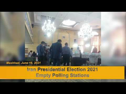 Video reports from Iran 2021 election shows empty polling stations