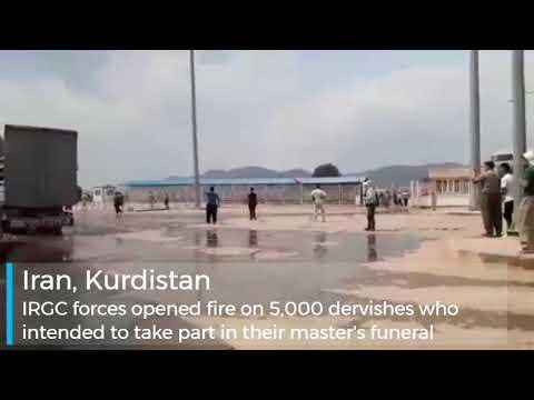 Iran, Kurdistan—The Revolutionary Guards (IRGC) opens fire on dervishes