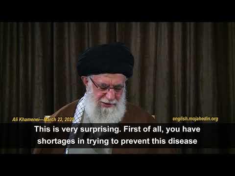 A biologic war against the Iranian regime!! The Iranian regime supreme leader Ali Khamenei claims