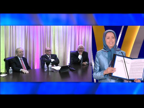 Presenting the statement by 31 U.S.political dignitaries on the need to hold Iran regime accountable