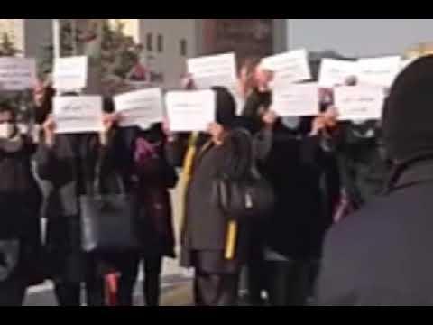 تجمع اعتراضی کادرخصوصی بهداشت برای تبدیل وضعیت آذربایجان شرقی