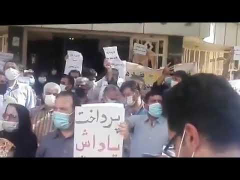 اهواز-اعتراض سراسری معلمان با شعار زندانی سیاسی آزاد باید گردد
