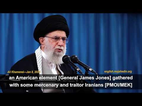 Iran's supreme leader Ali Khamenei's attacks Albania for hosting PMOI/MEK Iranian opposition members