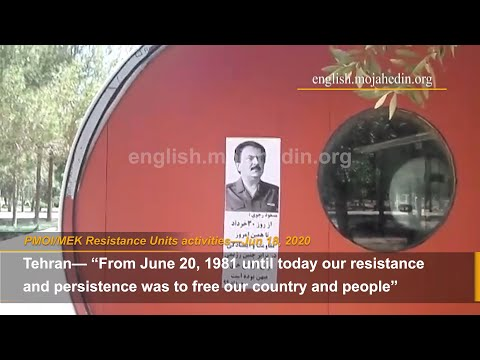 """""""No one can confront Iran's rebellious youth and an arisen nation of Iran"""":PMOI/MEK Resistance Units"""