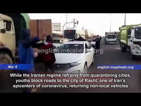 Absent government quarantines, youths block roads to confront Iran coronavirus outbreak