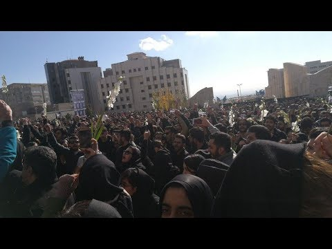 Iran: Tehran Science and Research University students holding massive protest gathering