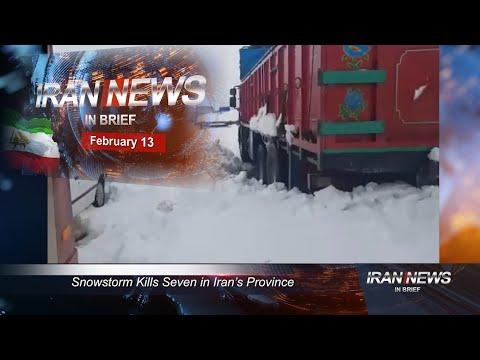 Iran news in brief, February 13, 2020