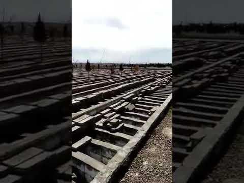 قبرهای آماده شده برای فوتی های کرونا در قم
