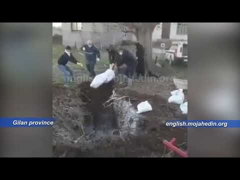 People forced to bury coronavirus COVID-19 victims with their own hands in Gilan