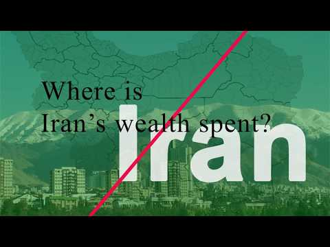 How is Iran's wealth spent under Khamenei & Rouhani