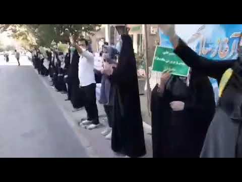 پانزدهمین روز تجمع اعتراضی کارنامه سبزها مقابل وزارت آموزش و پرورش