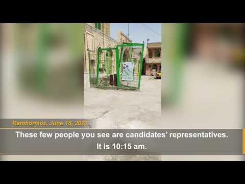 Iran's 2021 presidential election boycott in Shiraz and Ramhormoz