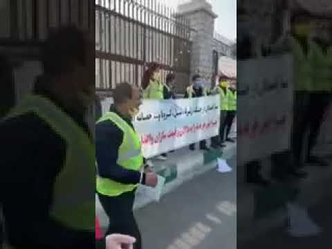 سایپاتجمع اعتراضی خریداران کامیون از شرکت کلاهبردار «سایپا» در برابر مجلس ارتجاع