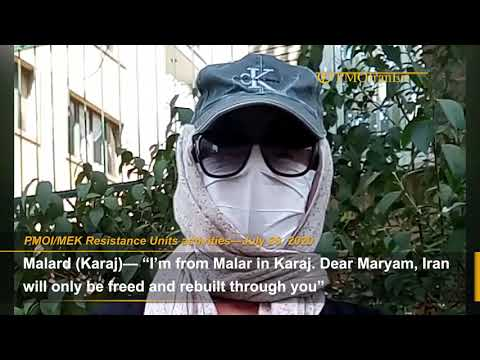 MEK network send their messages to the world supporting Maryam Rajavi