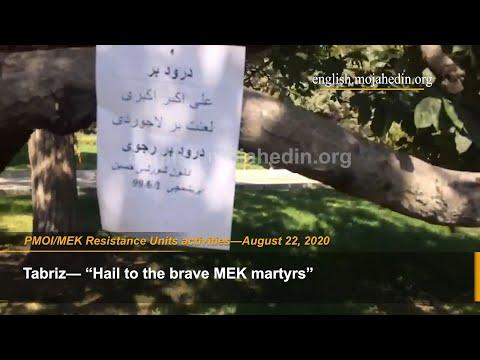 990601 August 22,2020 MEK Resistance Units install posters of PMOI MEK founders