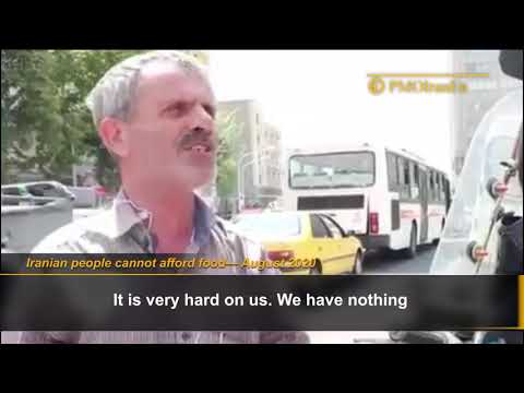 Iranian people cannot afford food under the rule of mullahs