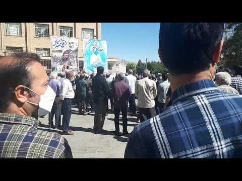 کرمانشاه-تجمعات اعتراضی سراسری معلمین با شعار زندانی سیاسی آزاد باید گردد