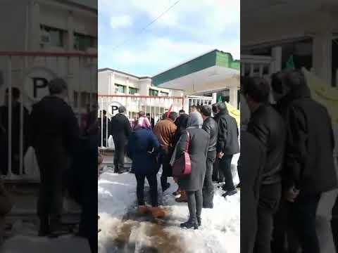 تجمع اعتراض مردم لاهیجان به وضعیت خاموشی طولانی مدت برق24بهمن