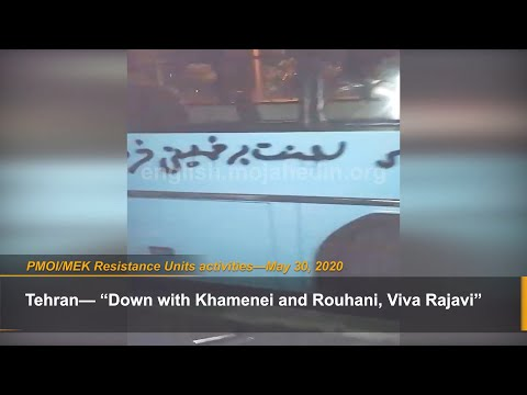 MEK Resistance Units took to graffiti on Tehran's busses