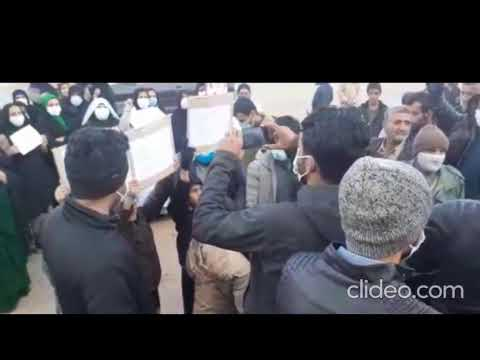 تجمع اعتراضی اهالی روستای چنار محمودی لردگان
