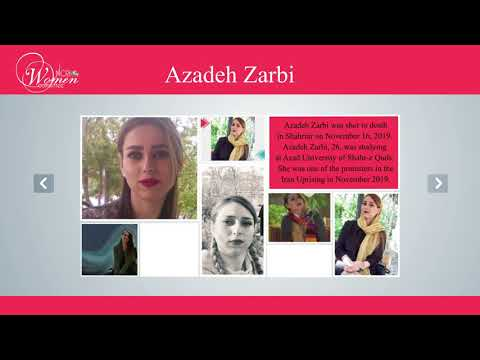 Azadeh Zarbi slain in the Iran Uprising in November 2019
