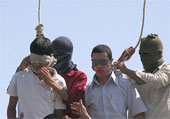In Iran mullahs' henchmen publicly hanged two young boys in Edalat (Justice) Square in Mashhad