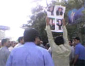 Thousands of people demonstrate in support of political prisoners outside Tehran University