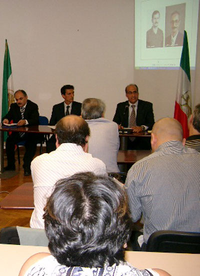 Iranian nuclear and terrorist activites discussed in Rome press conference