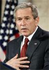 """Bush calls Iran regime a """"real threat"""""""
