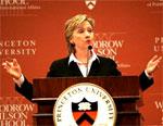 Clinton Calls for Sanctions Against Iran