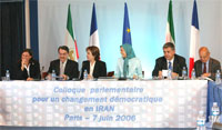 French parliamentarians meet to discuss democratic change in Iran