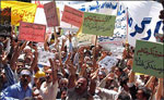 Workers demonstrate against the mullahs' new labor laws