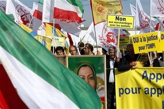 Iranians call for removal of the PMOI (MEK) from EU terror list in Strasbourg