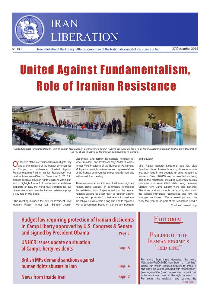 Iran Liberation No. 389