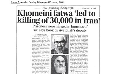 Official Statements, Confirming the Iran Mass Executions of 1988