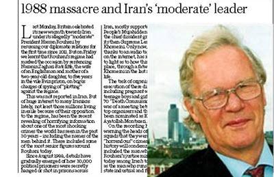 1988 massacre and Iran's 'moderate' leader