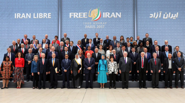 Paris: Dignitaries from Across the Globe Call for Regime Change in Iran at Opposition Rally