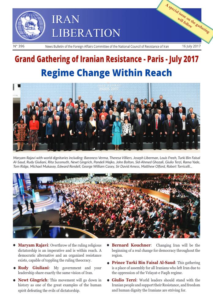Grand Gathering of Iranian Resistance – Paris – July 2017