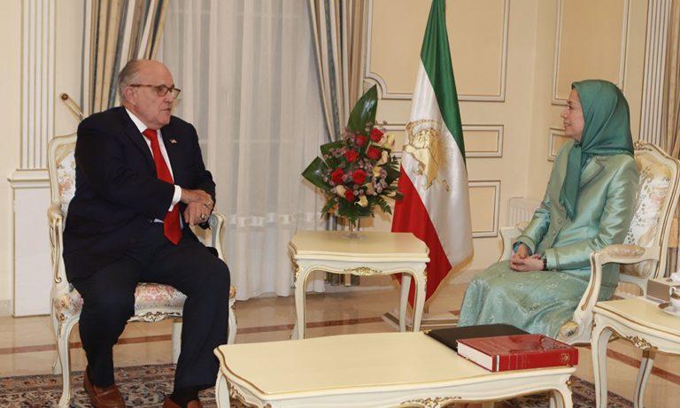 Maryam Rajavi Meets U.S. President's Attorney, Rudy Giuliani