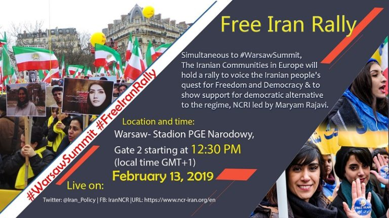 Iranians to Hold Rally in Warsaw Call for Support Democracy in Iran