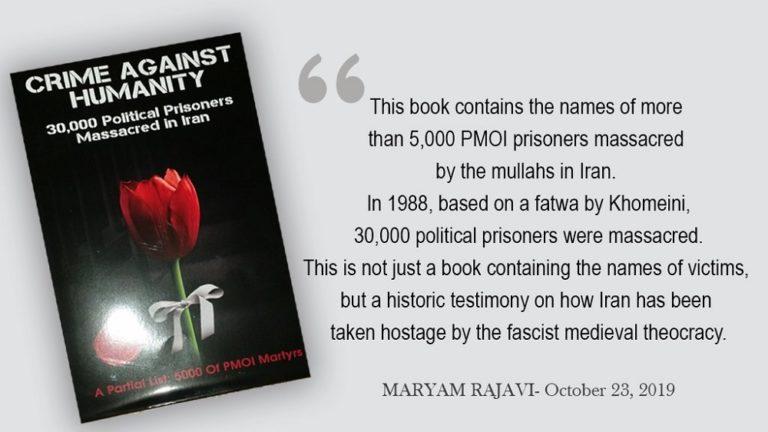Crime Against Humanity: New Book on Iran Regime's Massacre of the Mujahedin-E Khalq MEK Presented at European Parliament