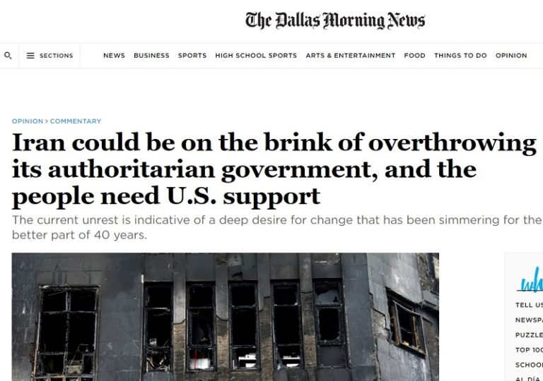 Iran Could Be on the Brink of Overthrowing the Mullahs' Regime – Dallas Morning News Op-Ed