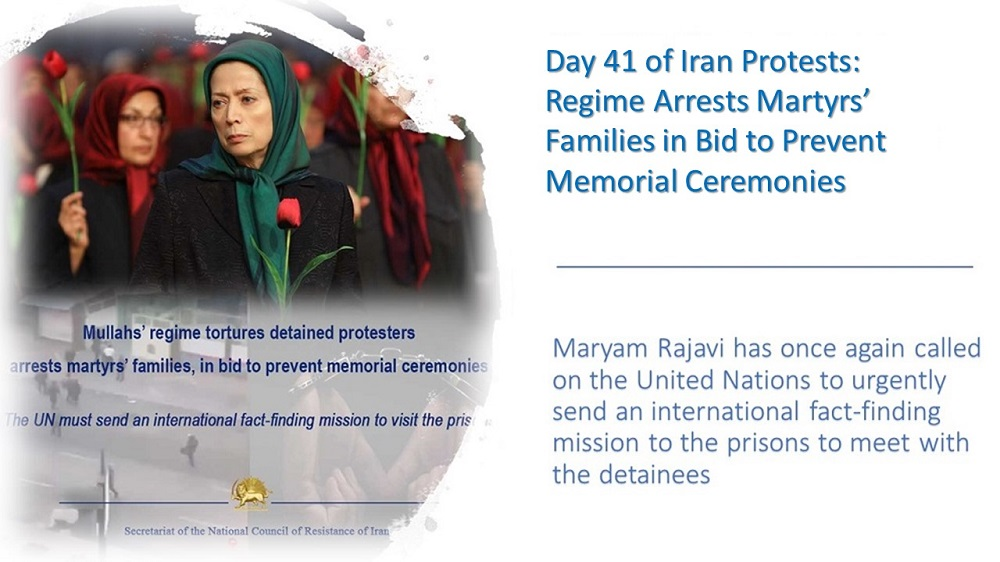 Day 40 of Iran Protests: Regime Arrests Martyrs' Families in Bid to Prevent Memorial Ceremonies