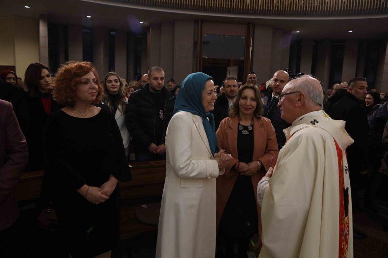 Iran Opposition Leader Maryam Rajavi Attends Christmas Celebration at Metropolitan Archdiocese of Tirana – Durres